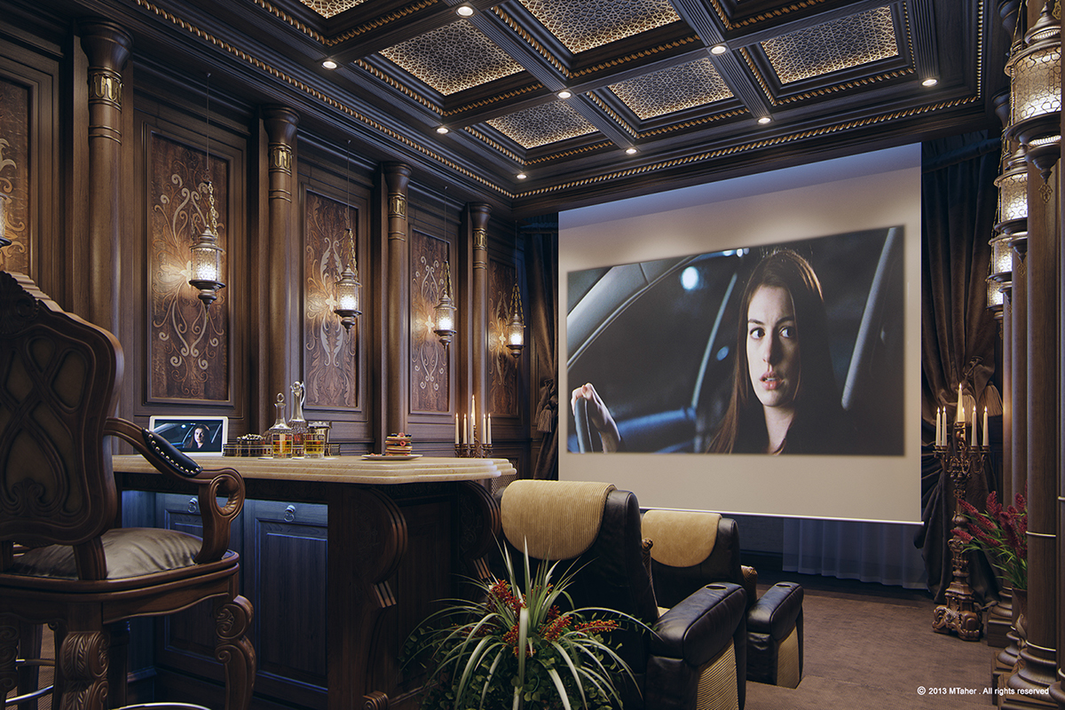 Luxury Home Theater On Behance