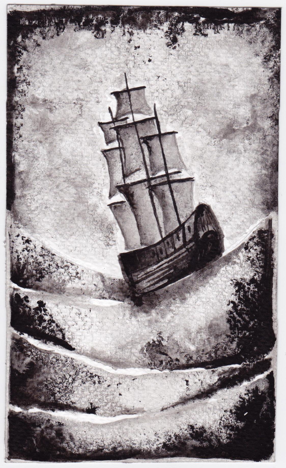 ink chalk charcoal illustrations blackandwhite TraditionalMedium FINEART painting