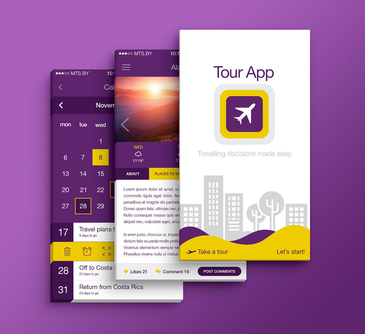 Travel & Tour App (Light/Flat Theme) On Behance