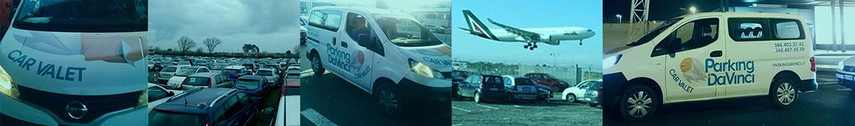 Parking Da Vinci AEROPORTO Fiumicino roma entrophia parcheggio brand identity grafica Web interface design