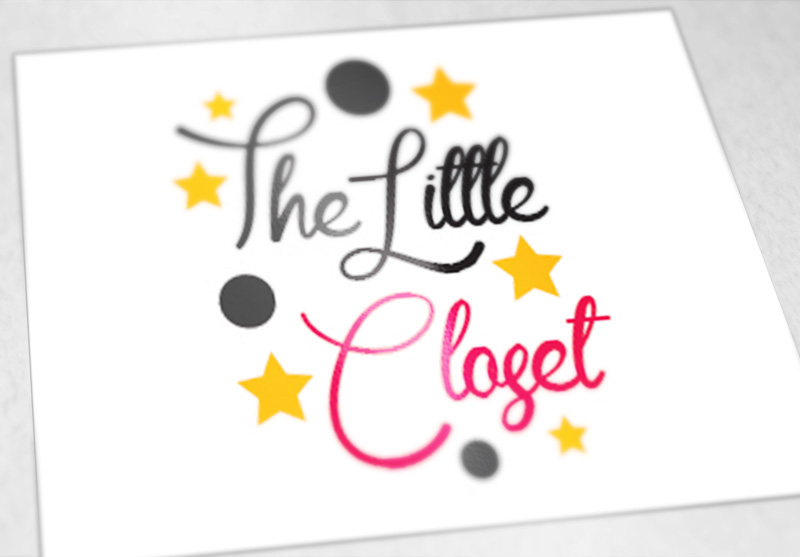 graphic design logo brand branding  little closet clothes Fashion  children