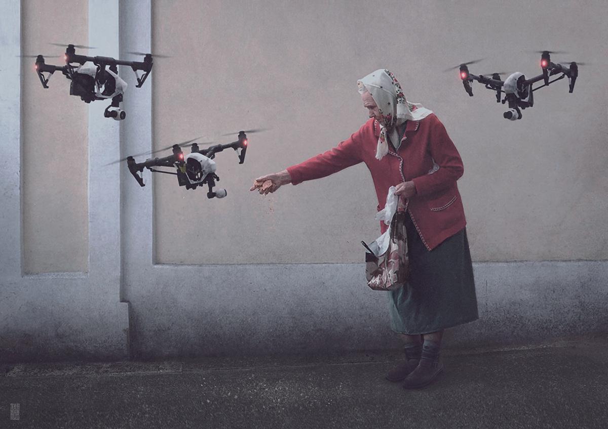 Russia Россия future Cyberpunk bitcoin vr virtual drone Dystopia robot