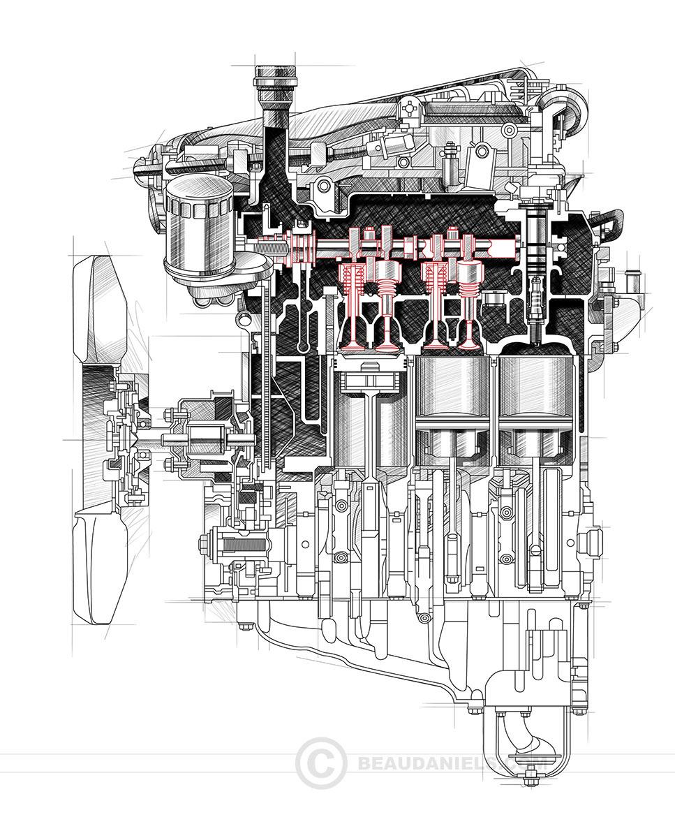 generic car engines portfolio 3 on behance rh behance net Car Engine Diagram Car Engine Diagram