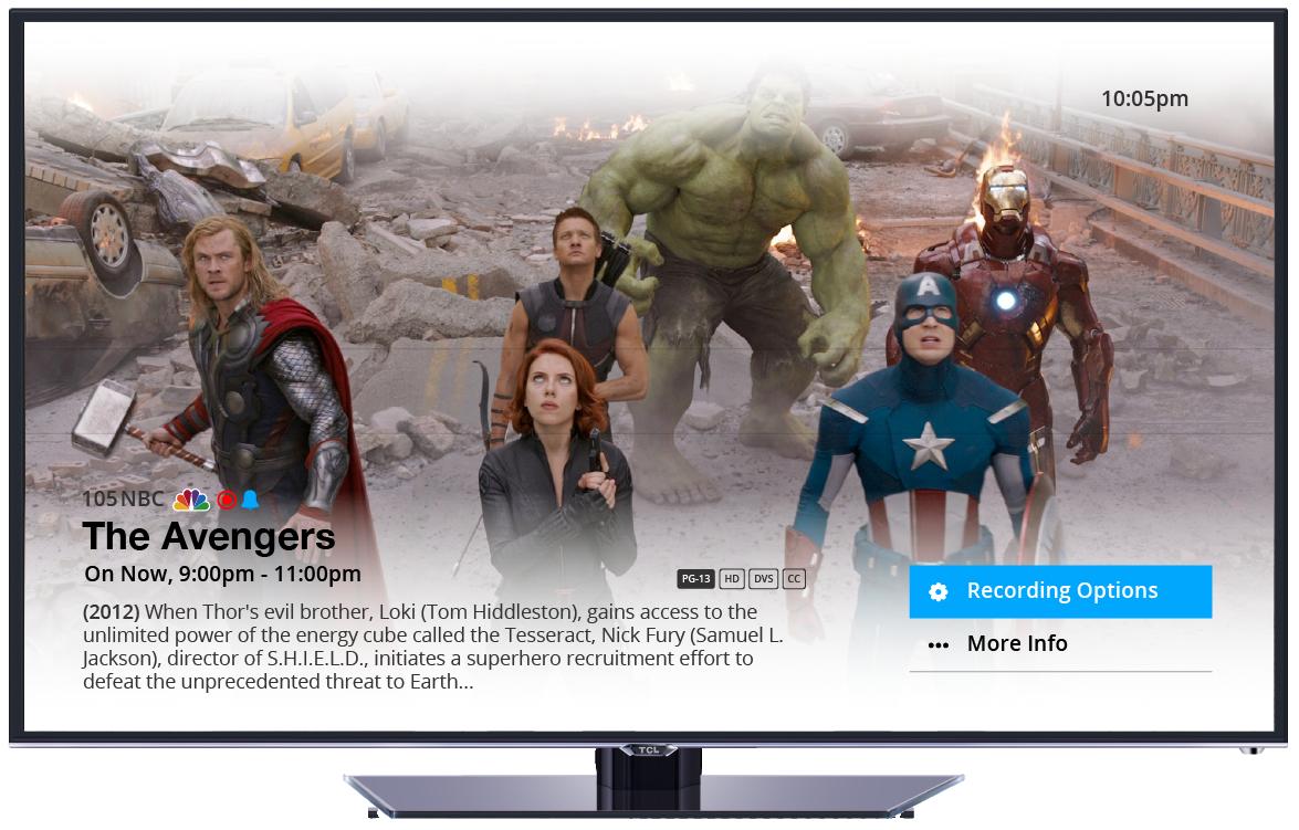 unity ux Cable UI software set top box Display