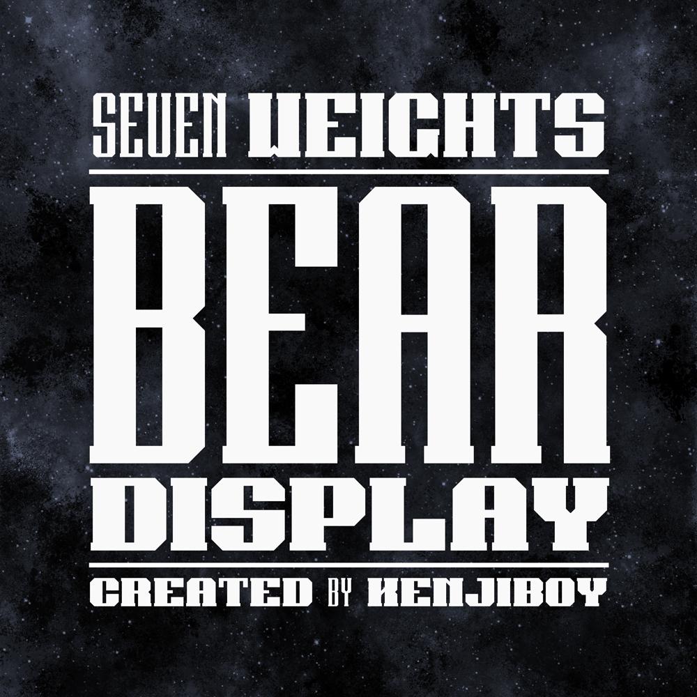 Adobe Portfolio,bear,font,Typeface,Free font,Display,kenji,enos,kenjiboy