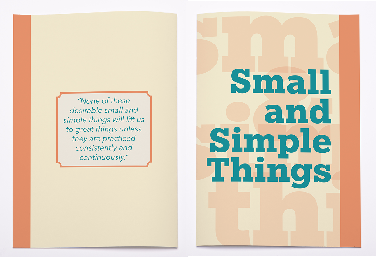 small and simple booklet on behance
