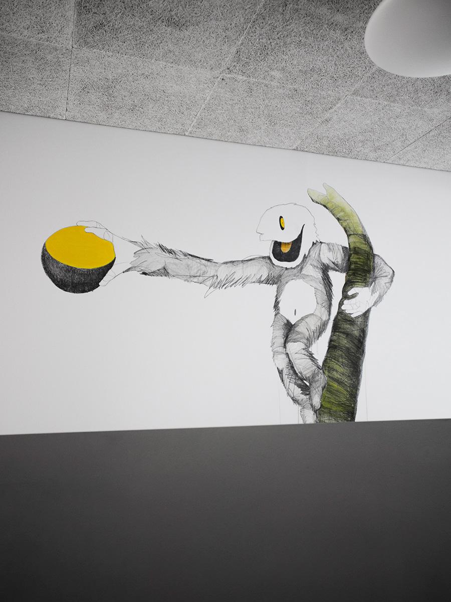 kindergarten walls drawings Murals Mural monster monsters animals animal graphite wall children kids acrylic