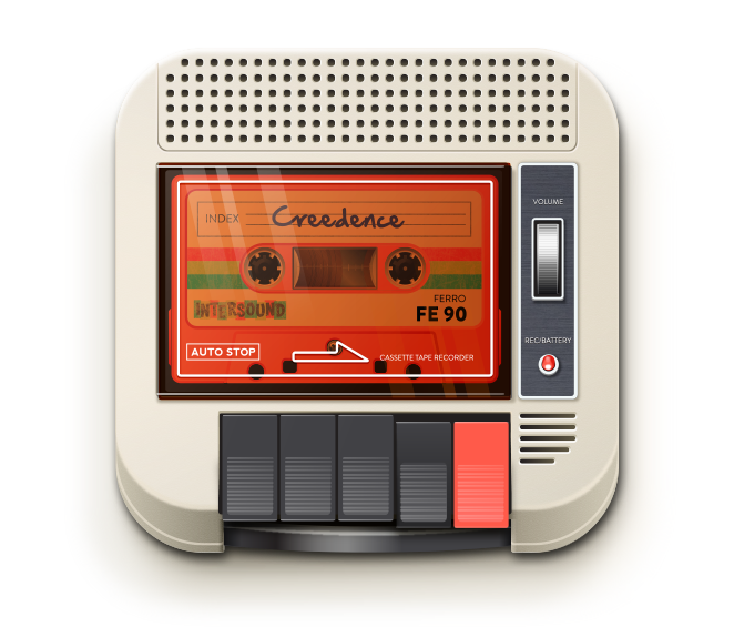 vintage  retro  70s  1970s tape recorder  cassette recorder  iOS  icon  mobile android  ipad  iphone