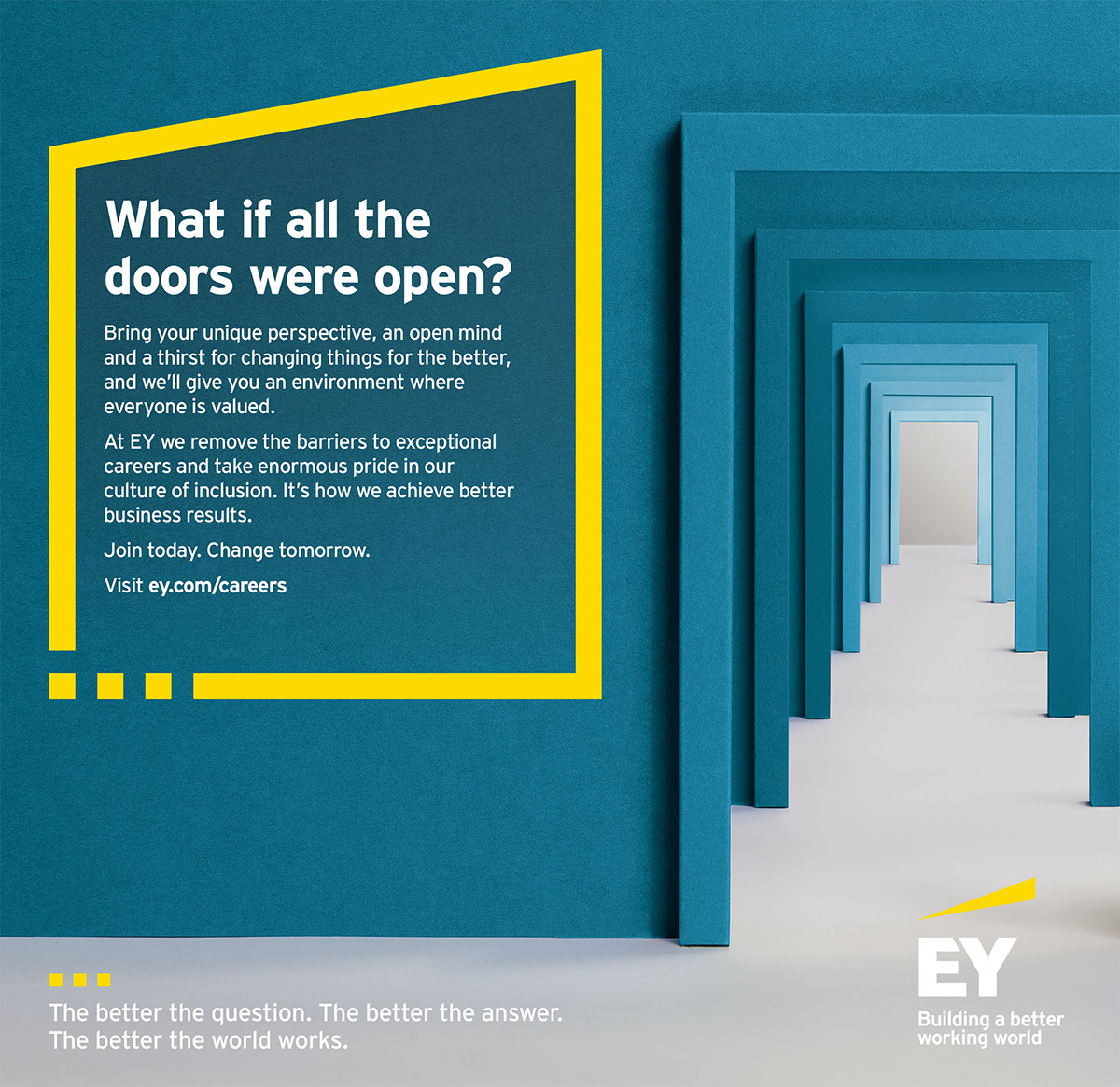 EY EXPERIENCED HIRE CAMPAIGN on Behance
