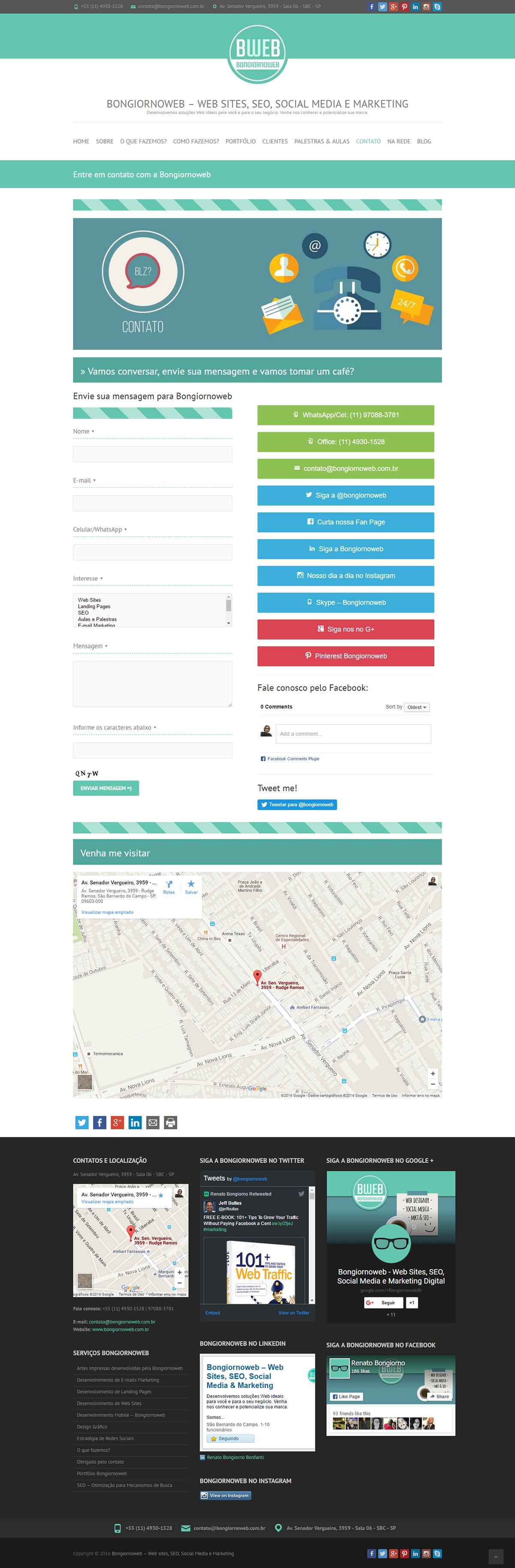 Desenvolvimento do Site - Bongiornoweb