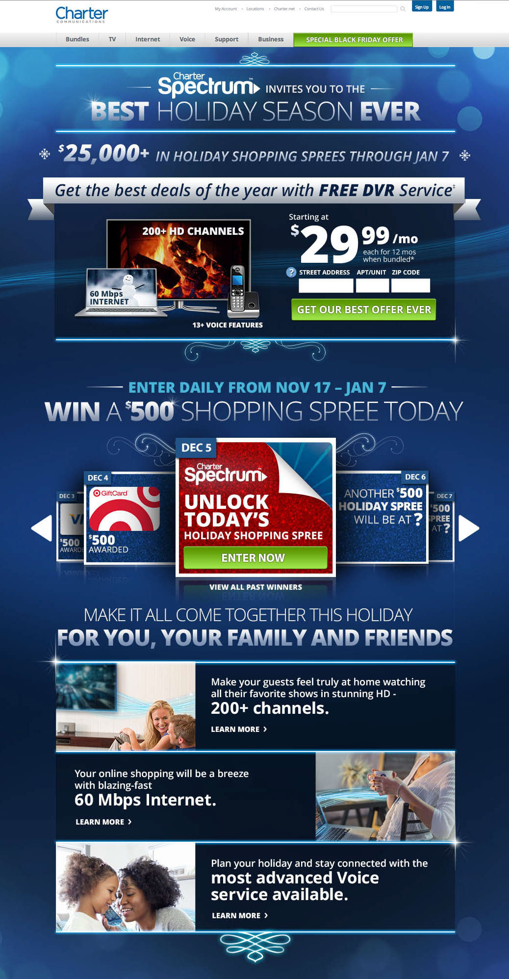 CHARTER SPECTRUM - Cross Channel Holiday Campaign on Behance