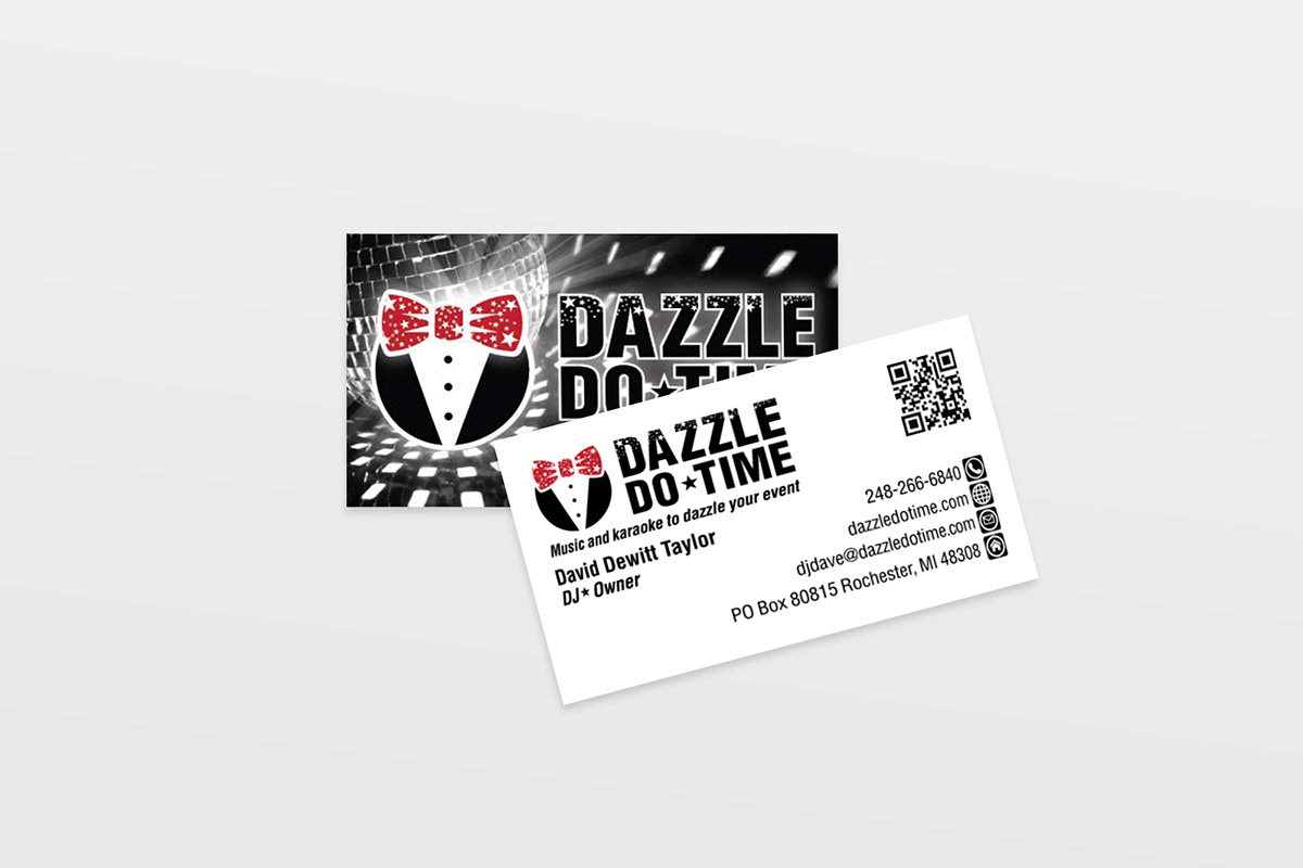 Dazzle Do Time Business Card Design on Behance