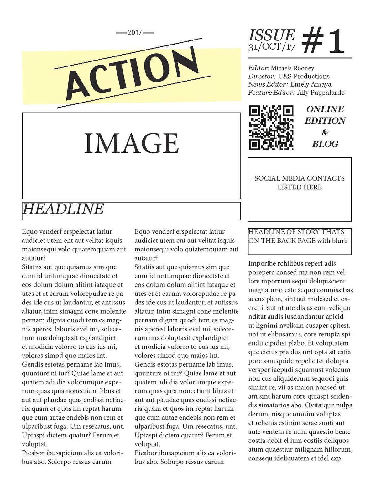 U S Newsletter Template On Behance