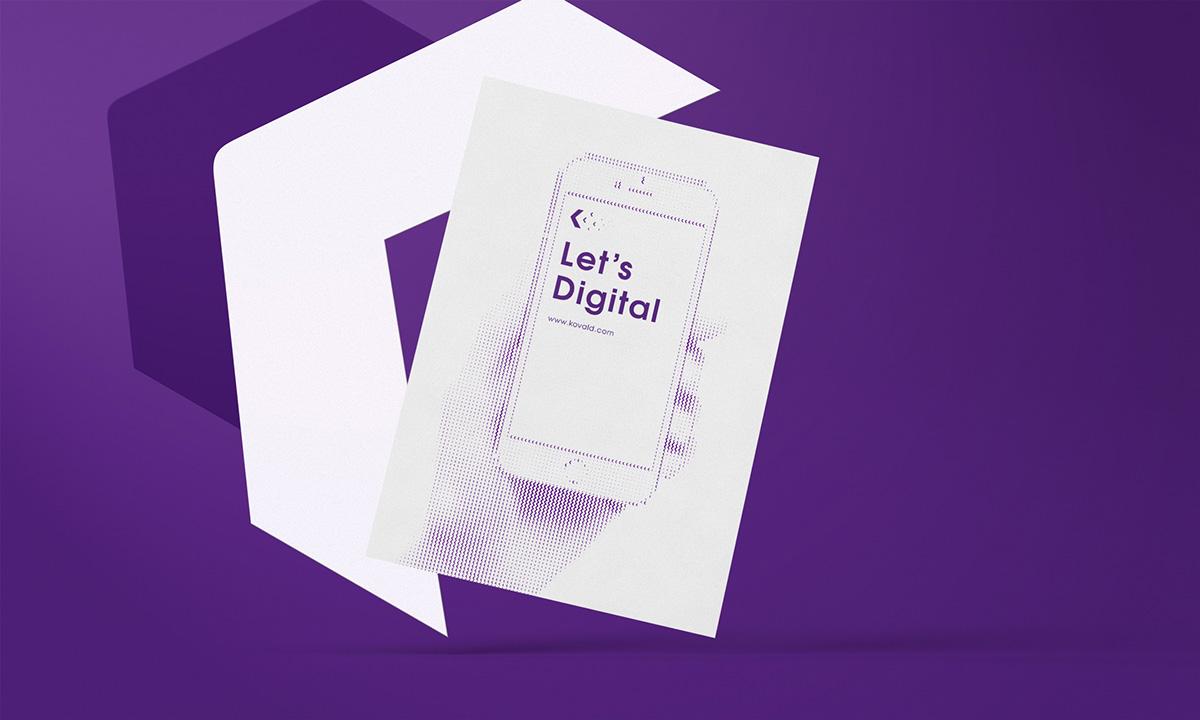 kovald digital marketing   advertise angelos botsis athens visual identity Corporate Identity Logotype agency digital marketing purple Stationery