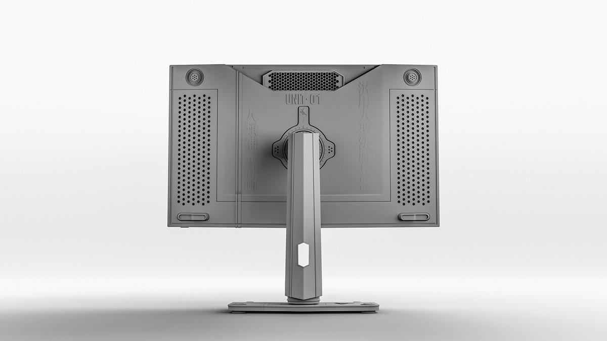 anime concept art concept design Gaming monitor MSI neon genesis evangelion product