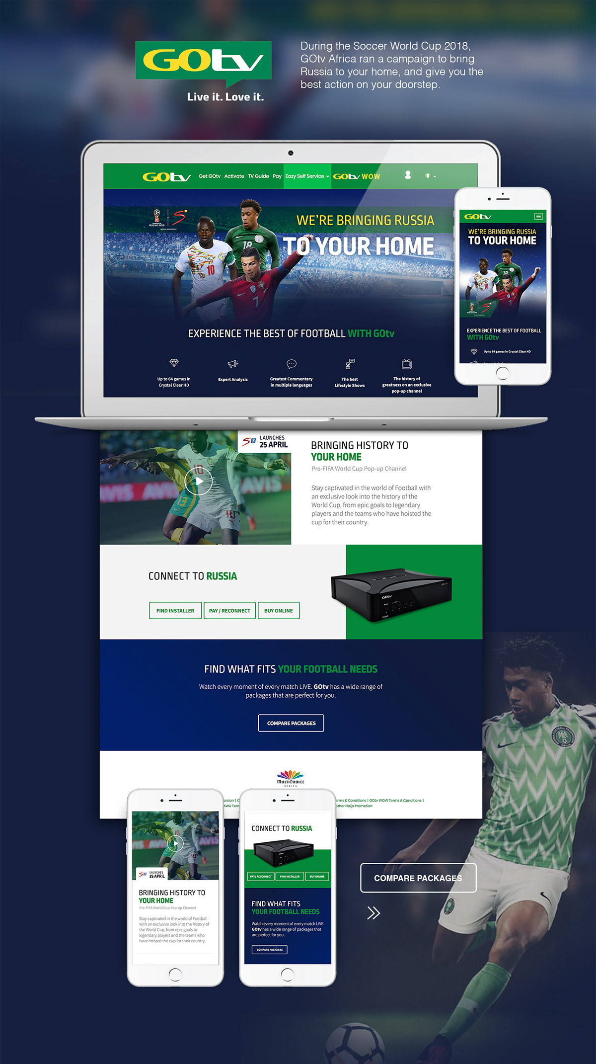 GOtv Soccer World Cup 2018 Campaign Website -Africa on