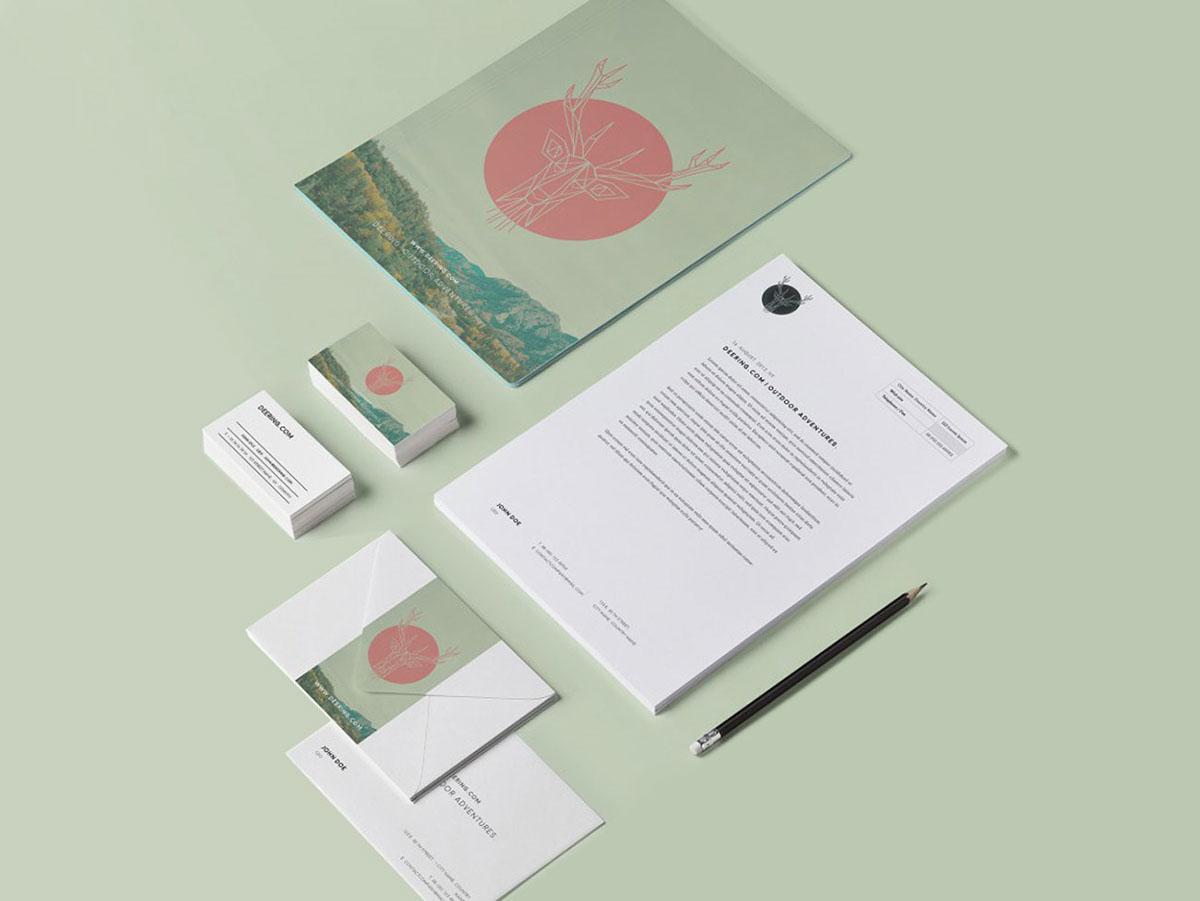 Corporate Identity design geometric Polygons brand Corporate Design logo Logo Design