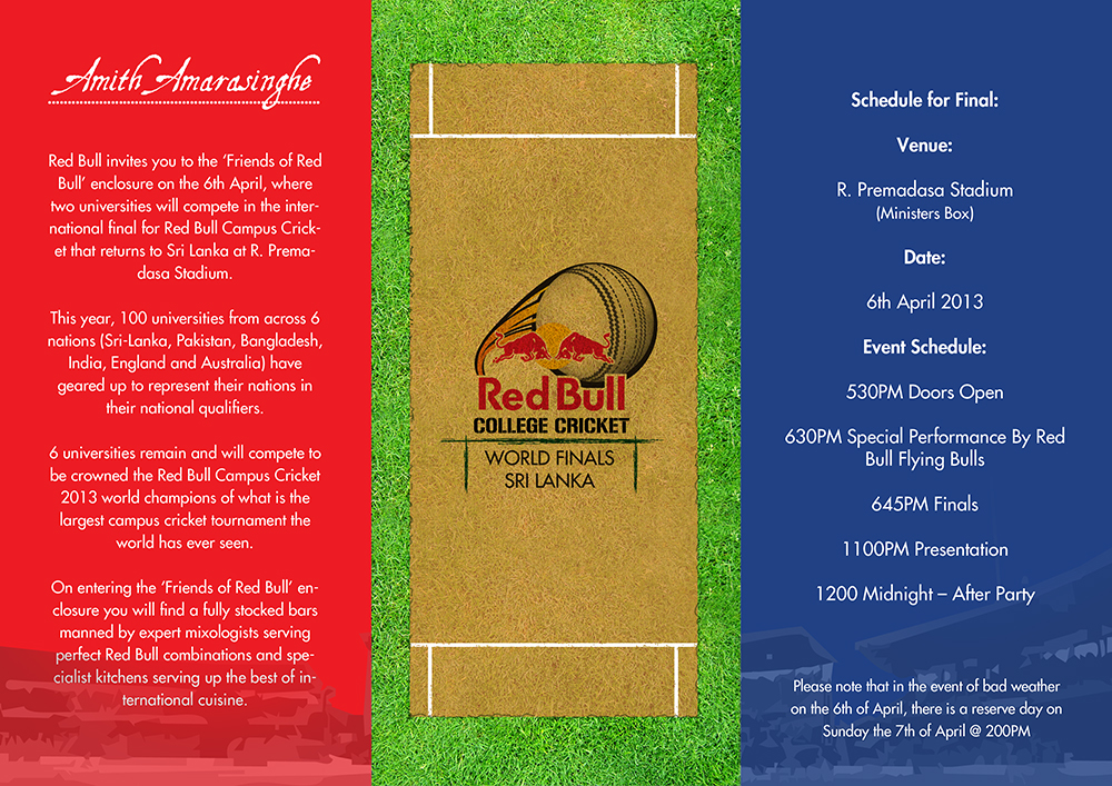 Red Bull campus cricket