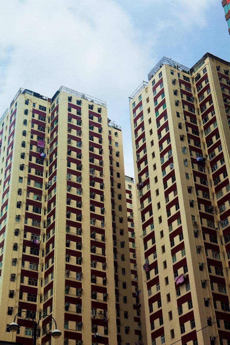buildings color cramped Hong Kong huge no-space Tiny
