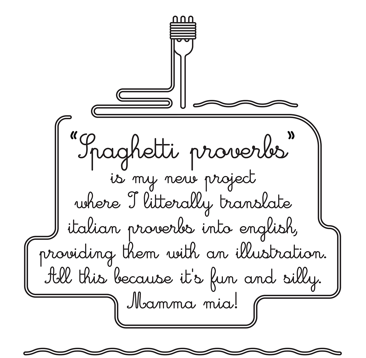 English In Italian: Spaghetti Proverbs On Behance