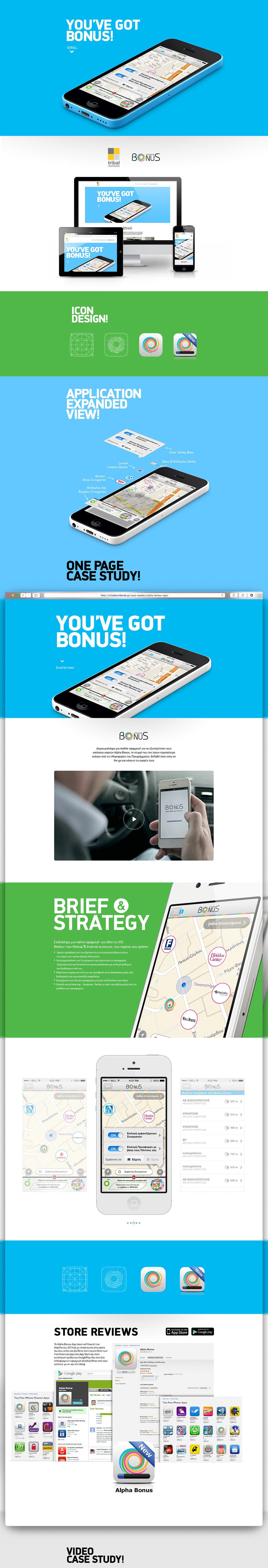 Bonus mobile app case study page design on pantone - Bonus mobile ...
