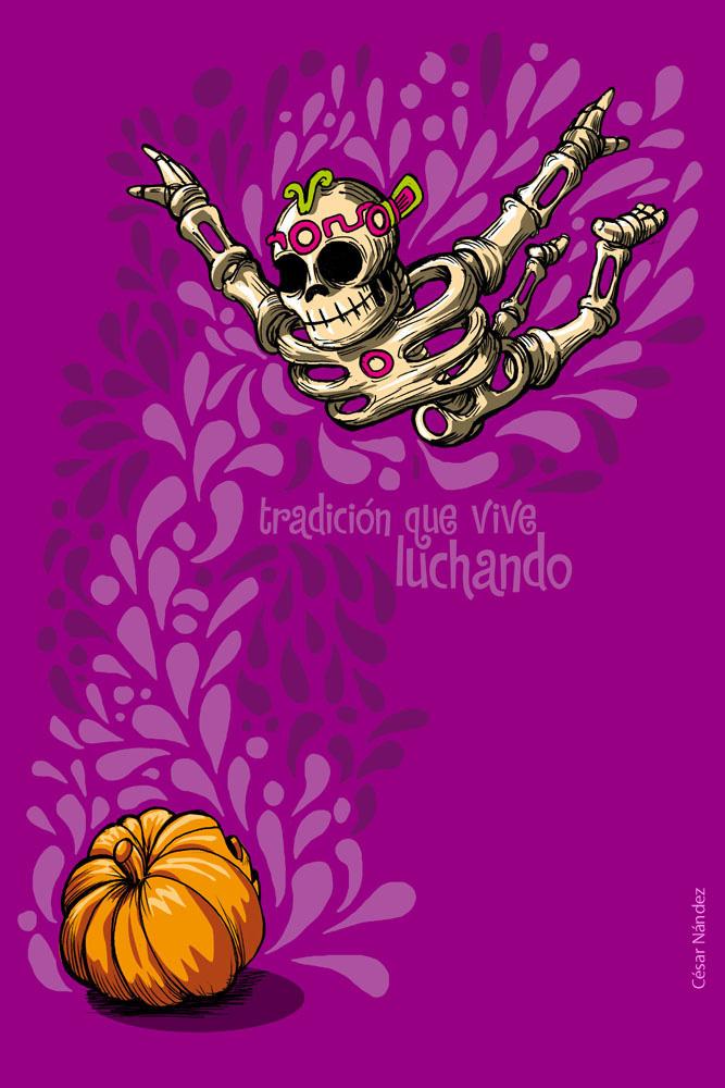 carteles de dia de muertos