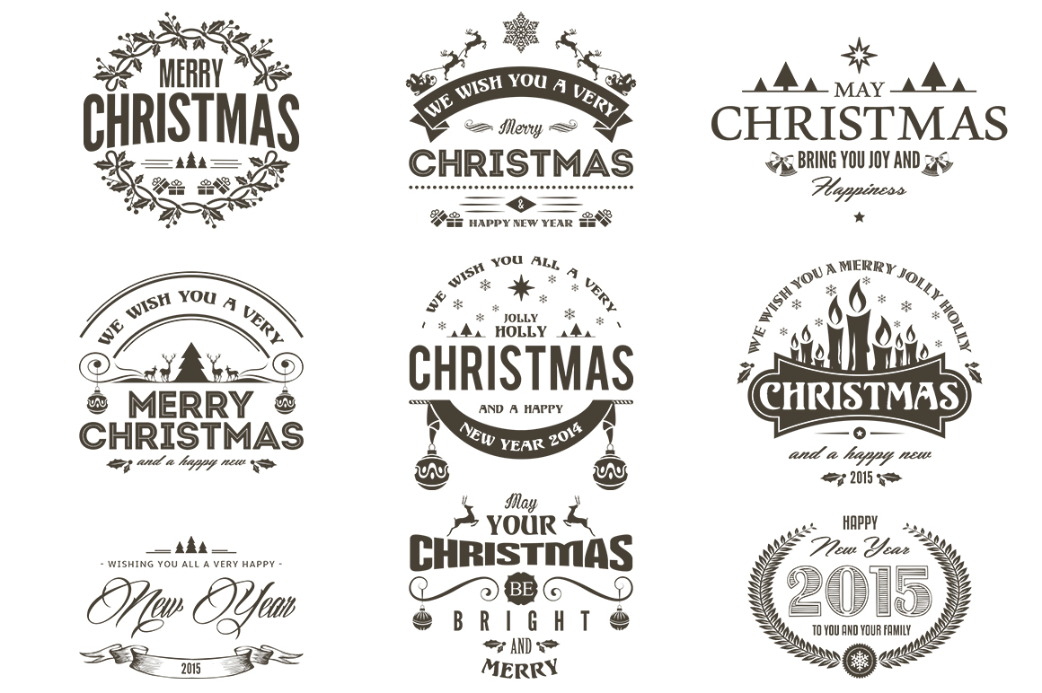 Christmas / New Year Badges & Labels Bundle on Behance