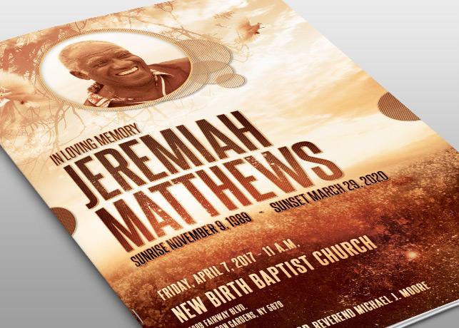 Farewell Funeral Program Template On Behance