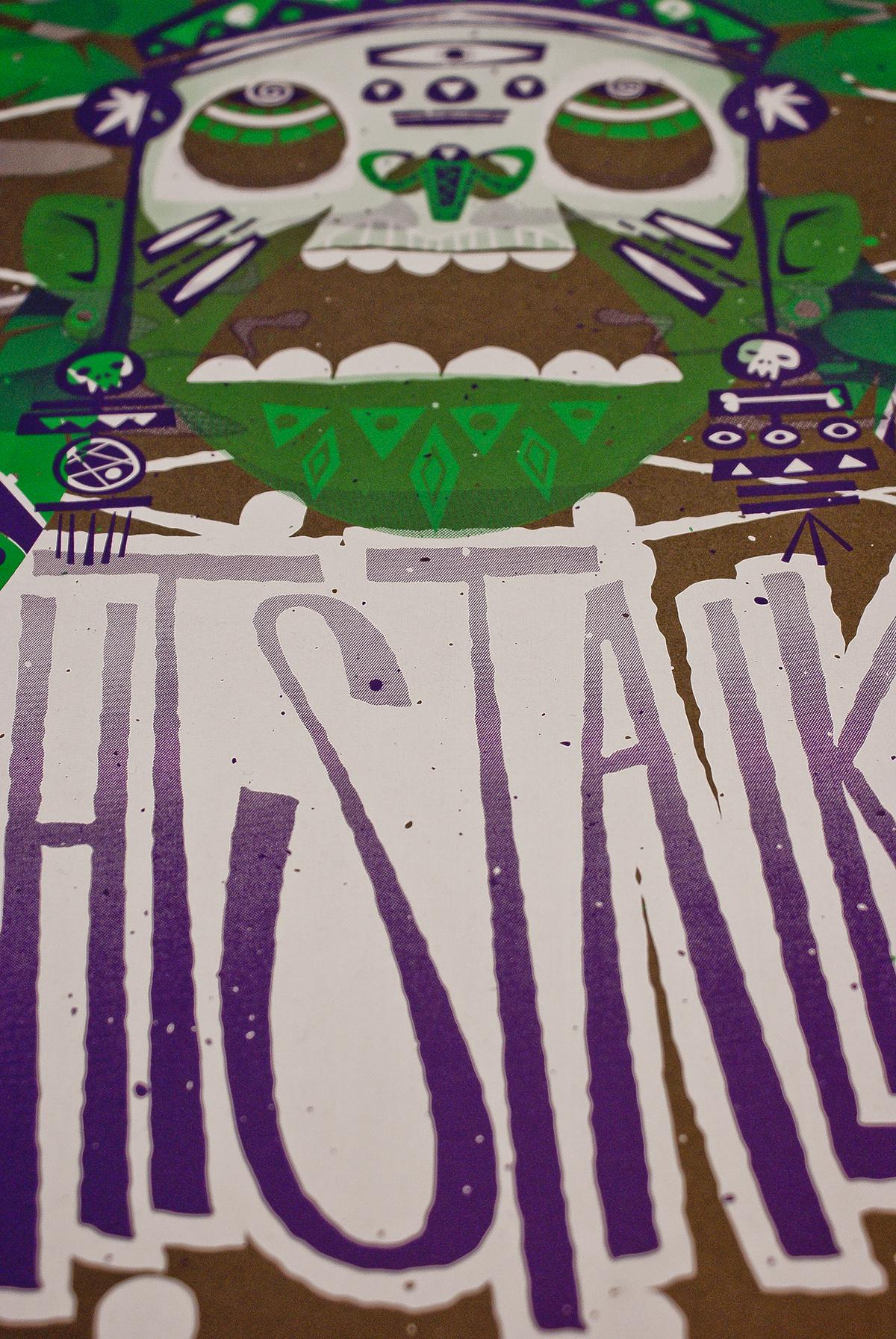 silkcreen handmade gig poster nightstalker   fuzztastic planet ink+destroy fuzzink φυγιαποδωρεκωλλοπαιδο while I was getting high
