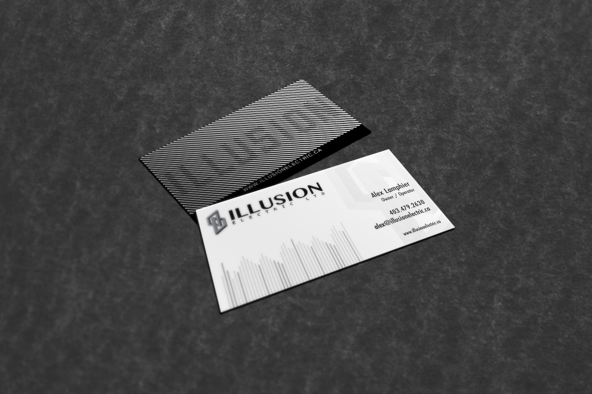 Illusion electric business cards logo on behance colourmoves