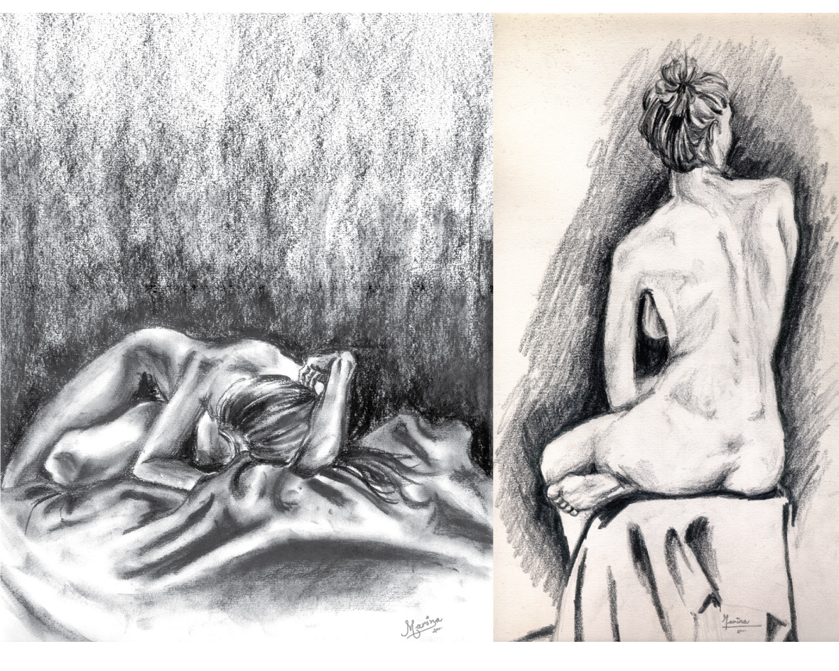 Marina Lavastrou Illustrations Art Design Study Of Human Body Handrawings
