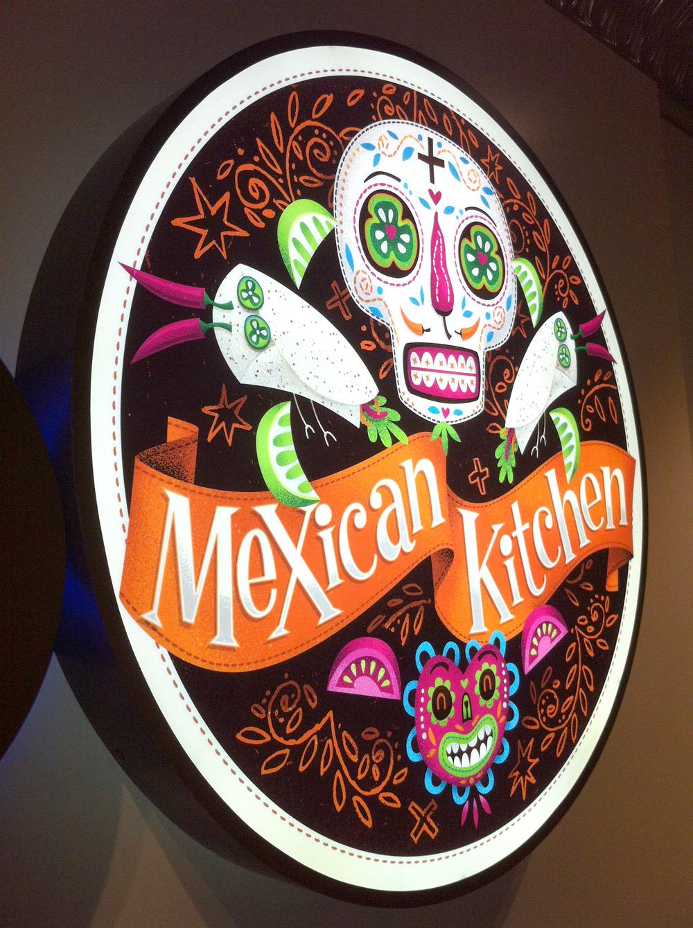 day of the dead dia de los muertos Mexican skulls illustrated Food  Burrito skeleton birds menu