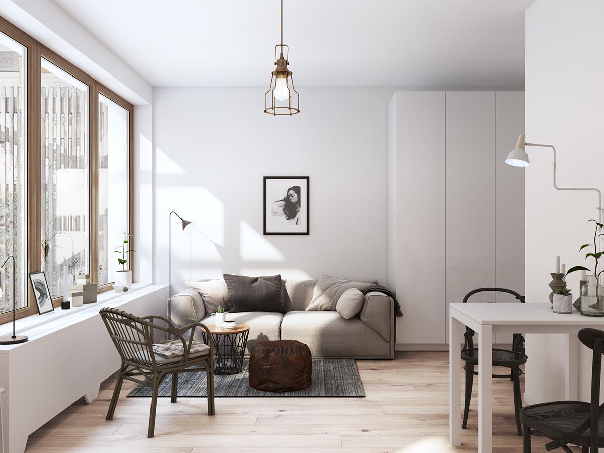 Scandinavian 3D 3dmax corona Render flat Whiteroom