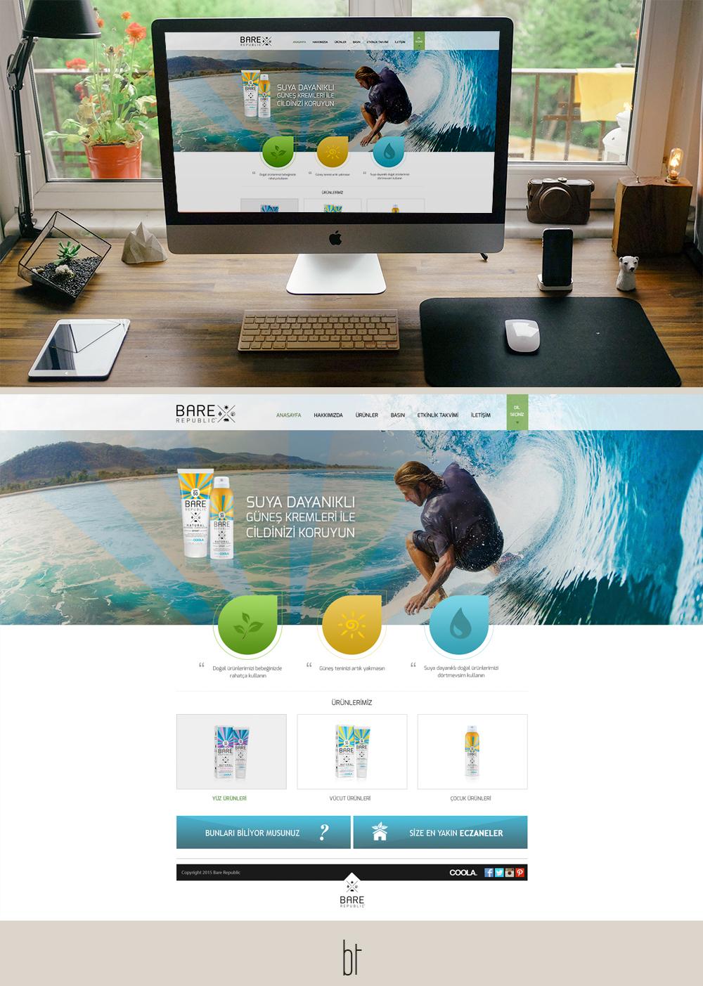 Bare Republic web tasarım güneş kremi