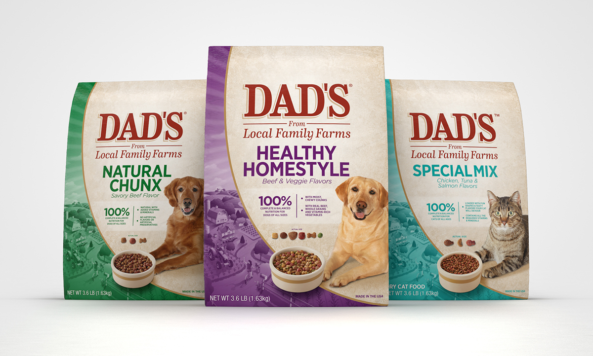 Dads Pet Food Packaging On Behance