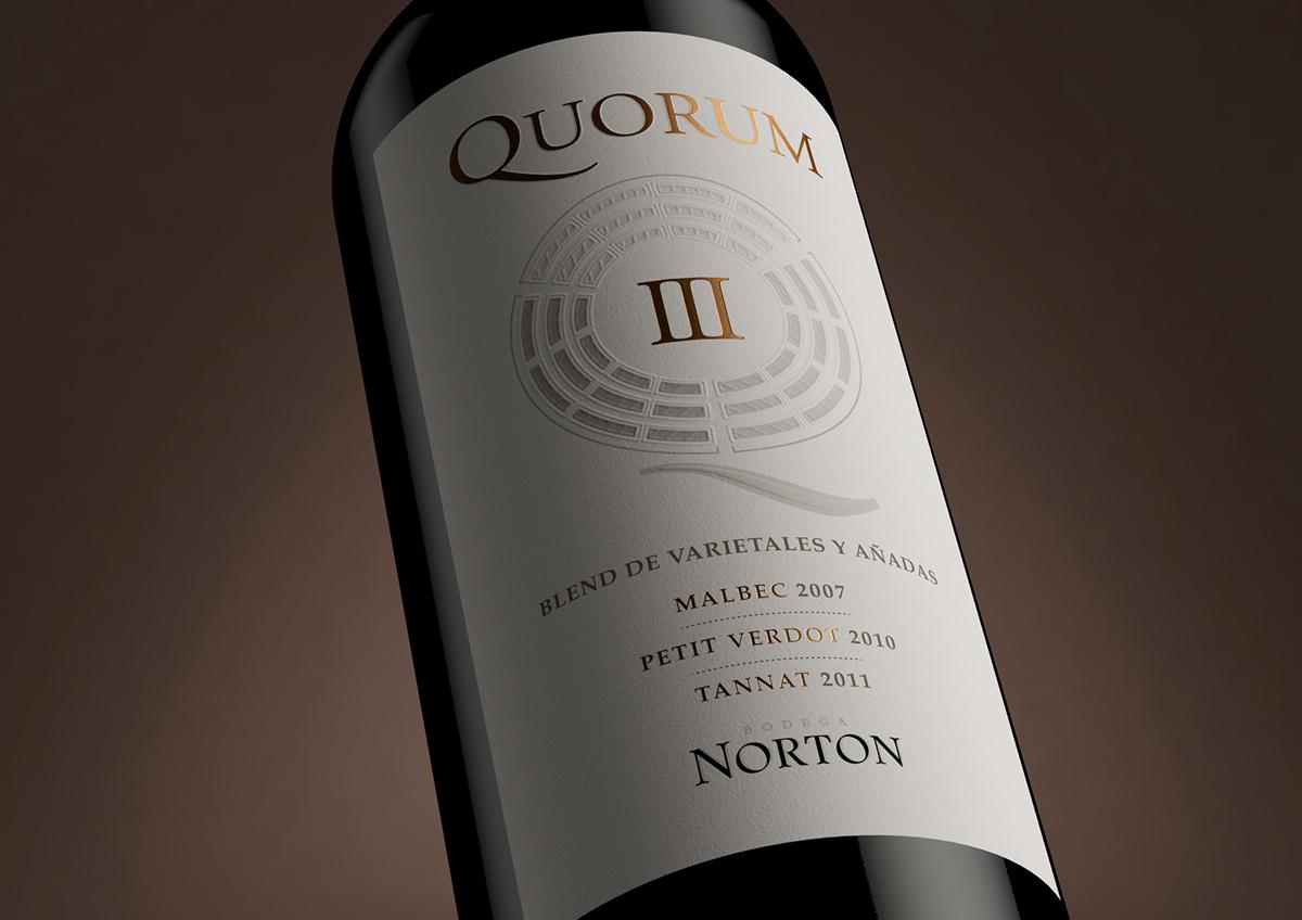 wine vino Label etiqueta estudio iuvaro norton quorum mendoza argentina