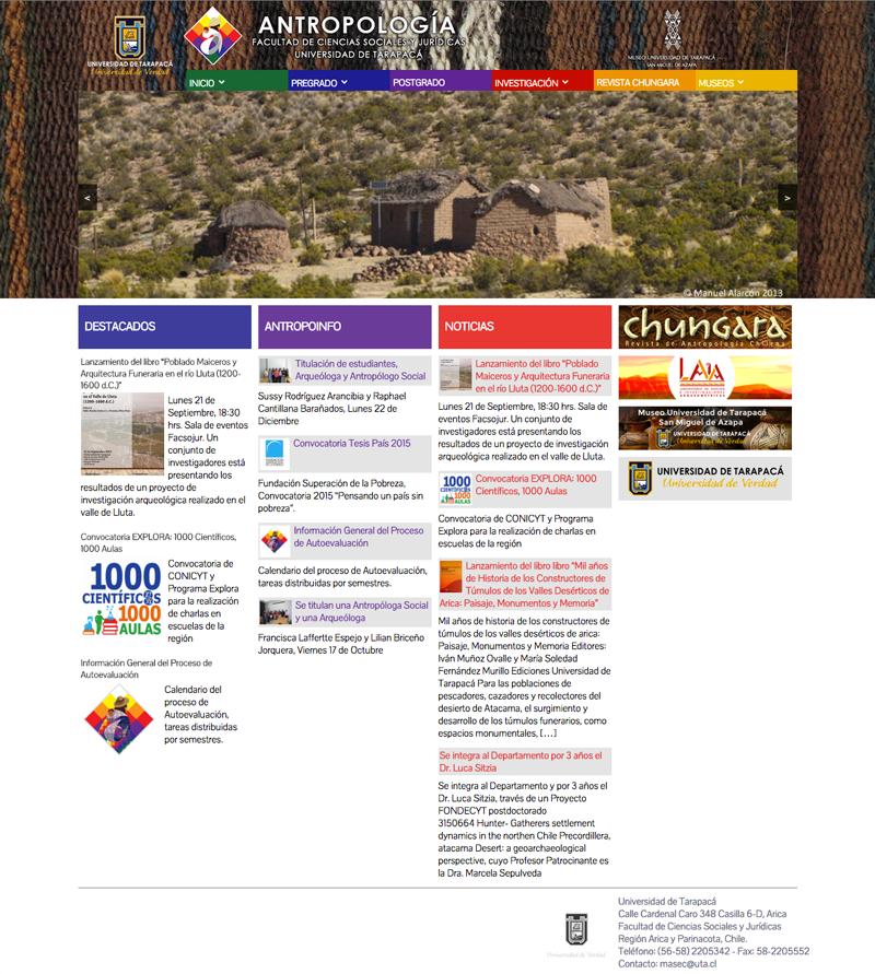 antropologia Website wordpress corporativo logo diseño