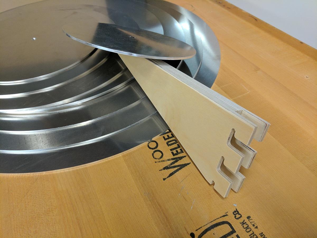 Spiral Display shelves Shelving doesburg mondrian flat pack cnc plywood birch