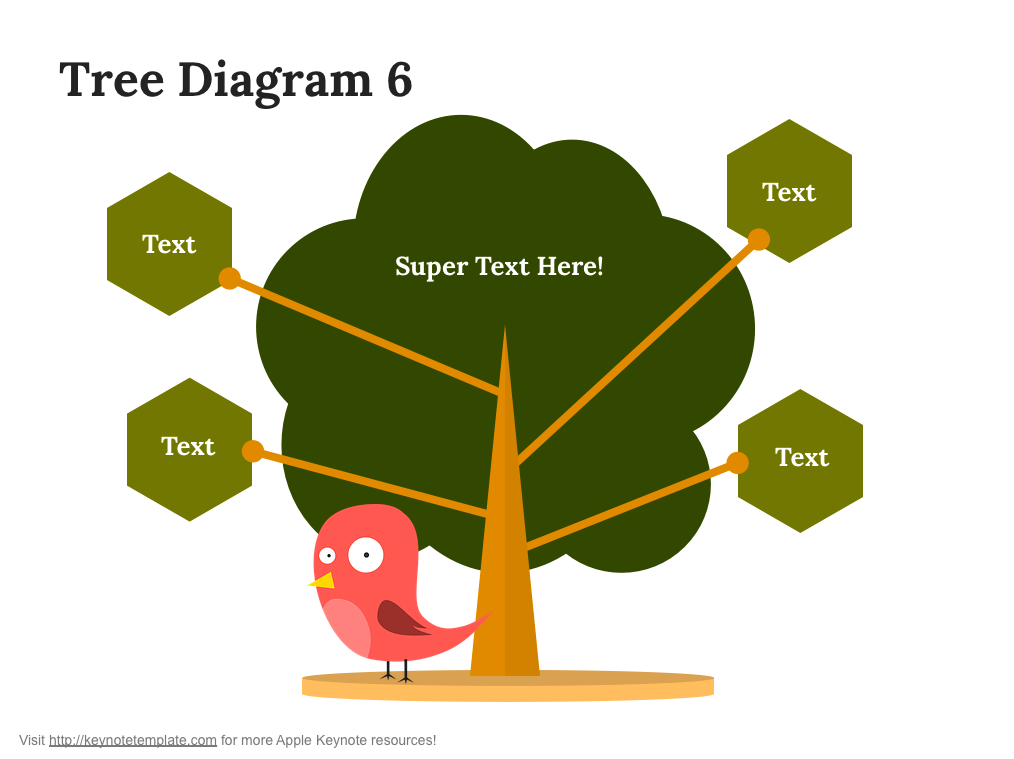 branch Tree  Family Tree free Keynote template presentation Pack element download
