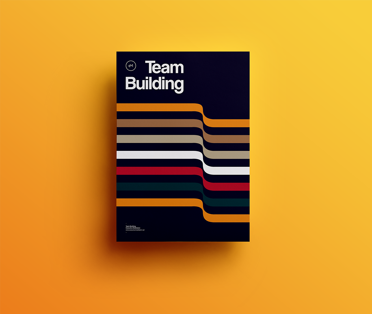 Swiss Poster Xavier Esclusa Trias Behance minimal colors design poster SWISS STYLE POSTER tipo bcn Vic team building executive meditation xet Twopots