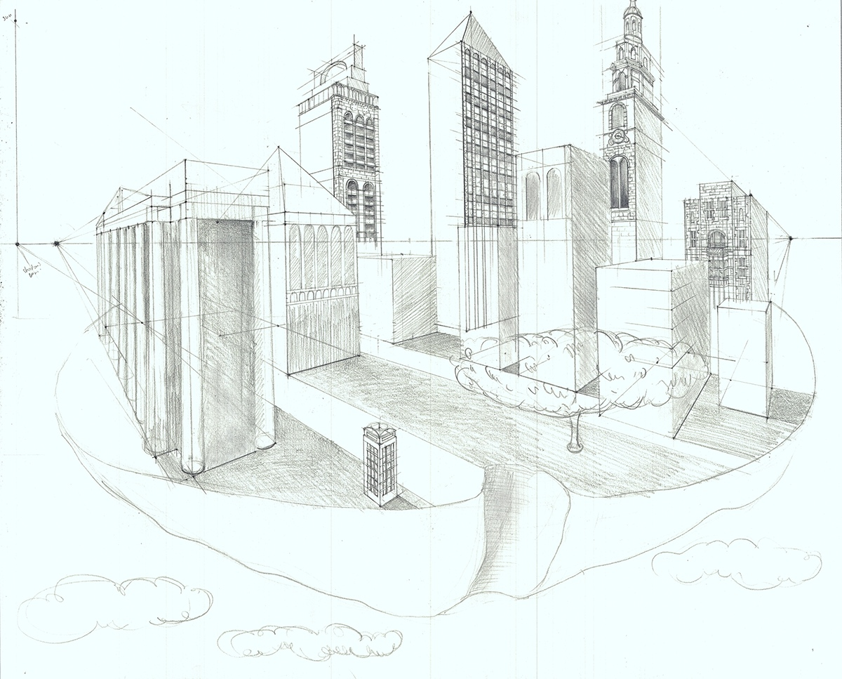 Perspective and Anatomy Drawings on Behance