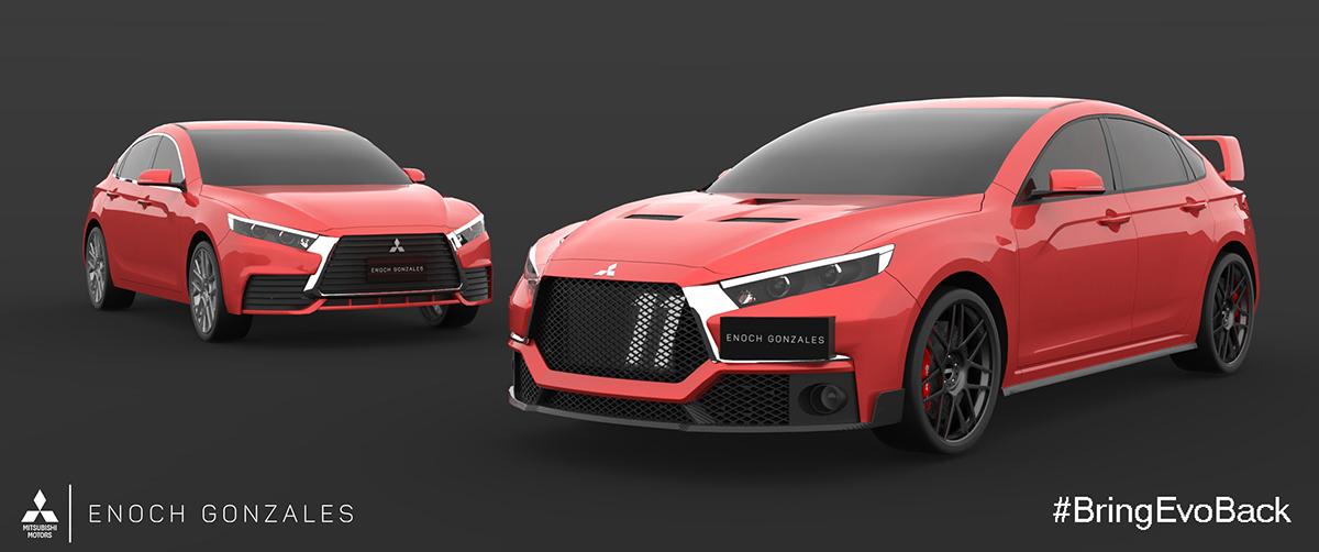 2018 Mitsubishi Lancer Evolution XI on Behance
