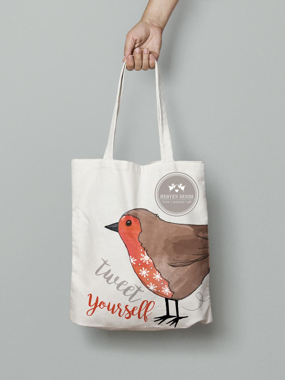 giftware totebag canvasbag homedecor marketing   marketingdesign birds watercolour digitalart vector