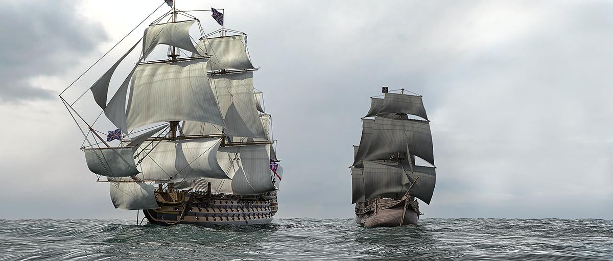 3d Battleship Hms Victory Vs Pirates On Behance