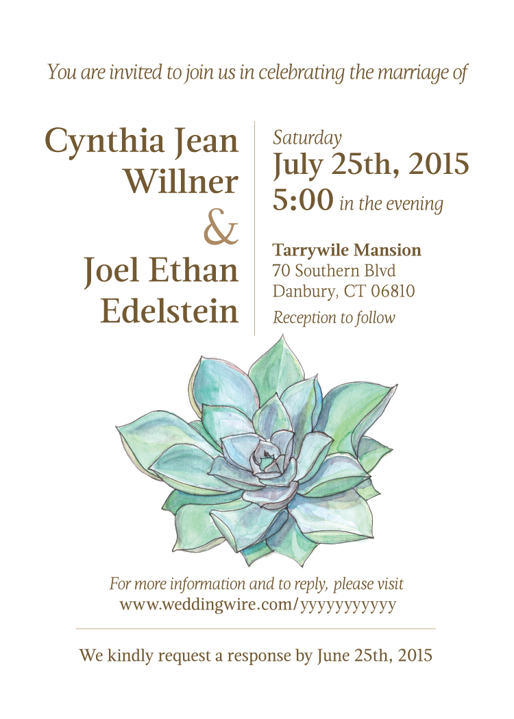 Wedding invite for Cindy & Joel on Behance