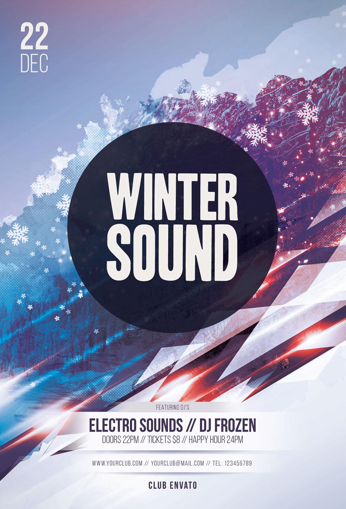 Winter Sound Flyer Template On Behance