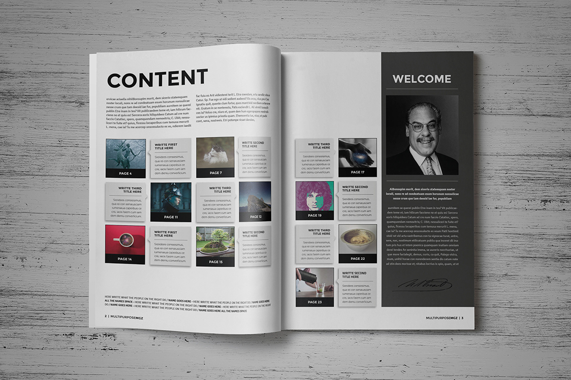 magazine brochure indesign templates on behance. Black Bedroom Furniture Sets. Home Design Ideas