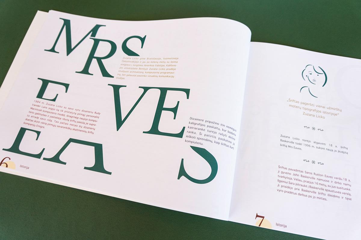 Typeface deconstruction on Pantone Canvas Gallery