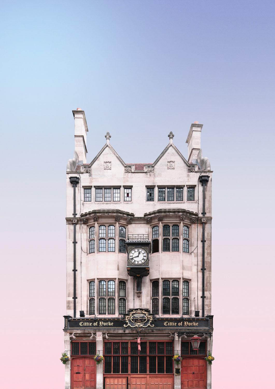 architecture building heysupersimi London minimal pastel pub wes anderson