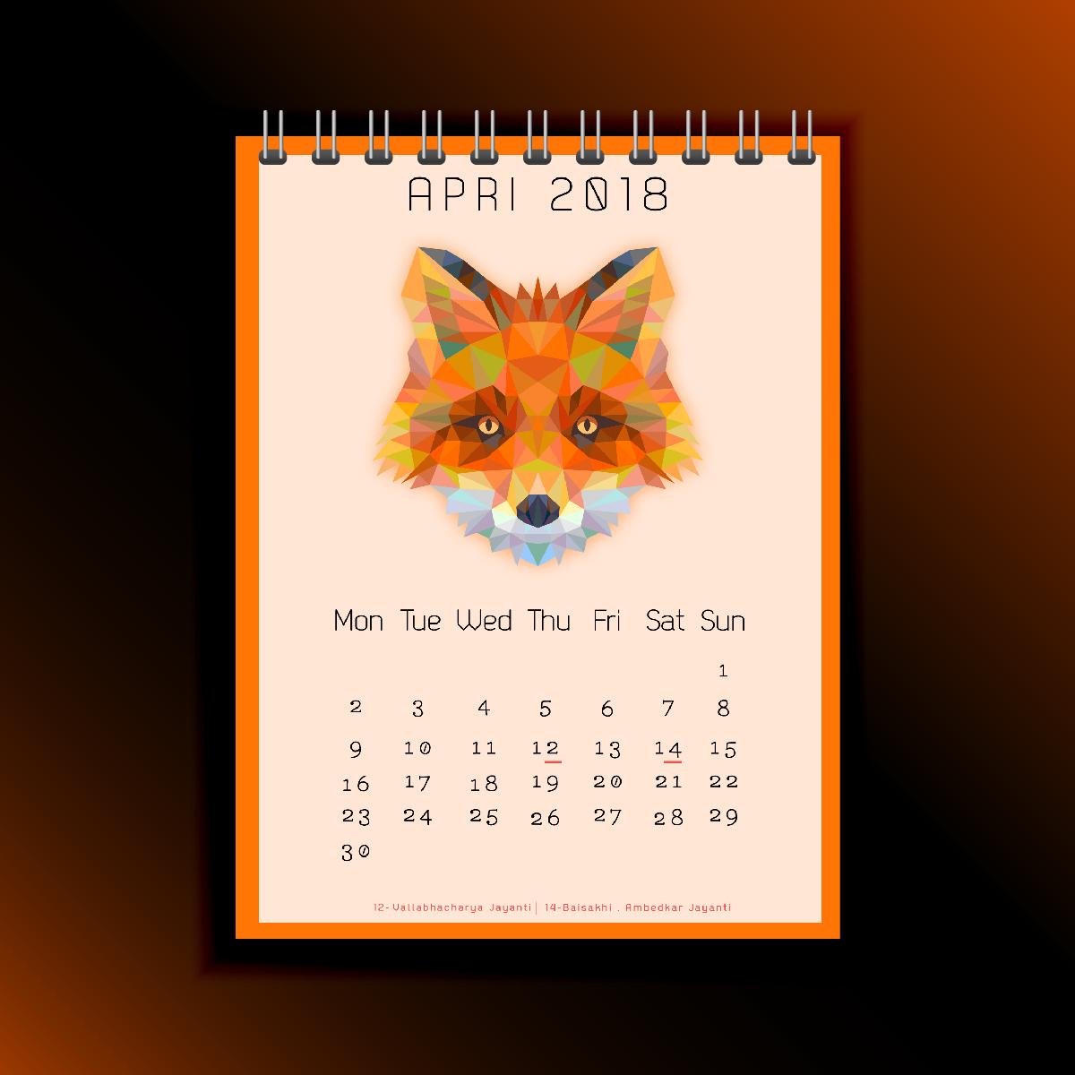 Calenzano Calendar 2018 | Project